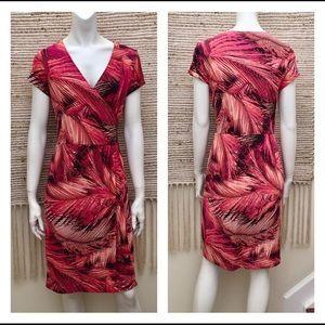 "Chico's ""Maui Sunset"" Faux Wrap Dress Size Small"
